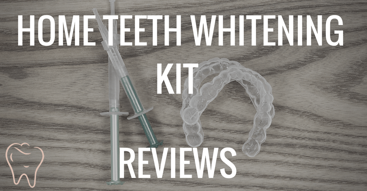 Teeth whitening kit on display