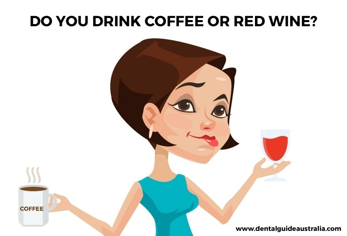 lady with red wine and coffee